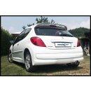 Peugeot 207 1.4 XS 16V 95PS Inoxcar Sportauspuff 90mm...
