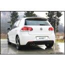 VW GOLF 6 1.4 TSI 160PS Inoxcar Sportauspuff 2x80mm...