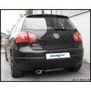 VW GOLF 5 1.6 102PS Inoxcar Sportauspuff 120x80mm Oblong...