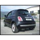 Fiat 500 1.4 16V 100PS Inoxcar Sportauspuff 2x70mm RACING...