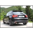 Audi A1 8X 1.4 Turbo 122PS Inoxcar Sportauspuff 2x80mm...