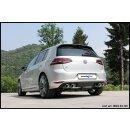 VW GOLF 7 2.0 R TSI 300PS Inoxcar Sportauspuff 120x80mm...