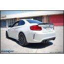 BMW M2 3.0 410PS 70mm Inoxcar X-RACE BLACK MATT...